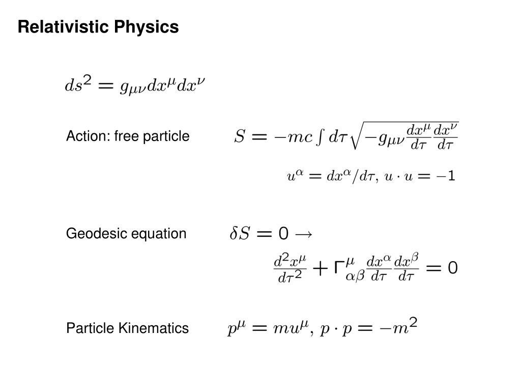 Relativistic Physics
