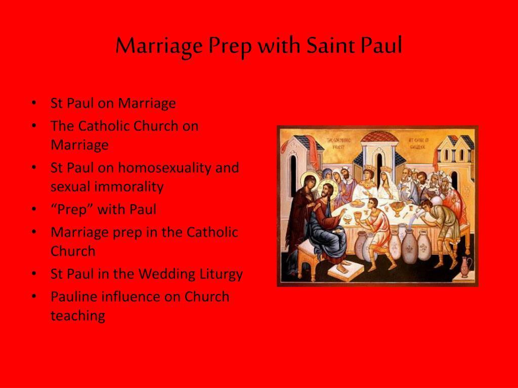Marriage Prep with Saint Paul