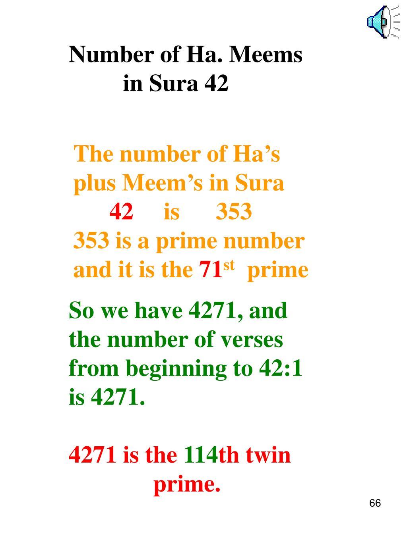 Number of Ha. Meems