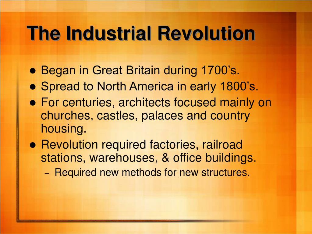 The Industrial Revolution