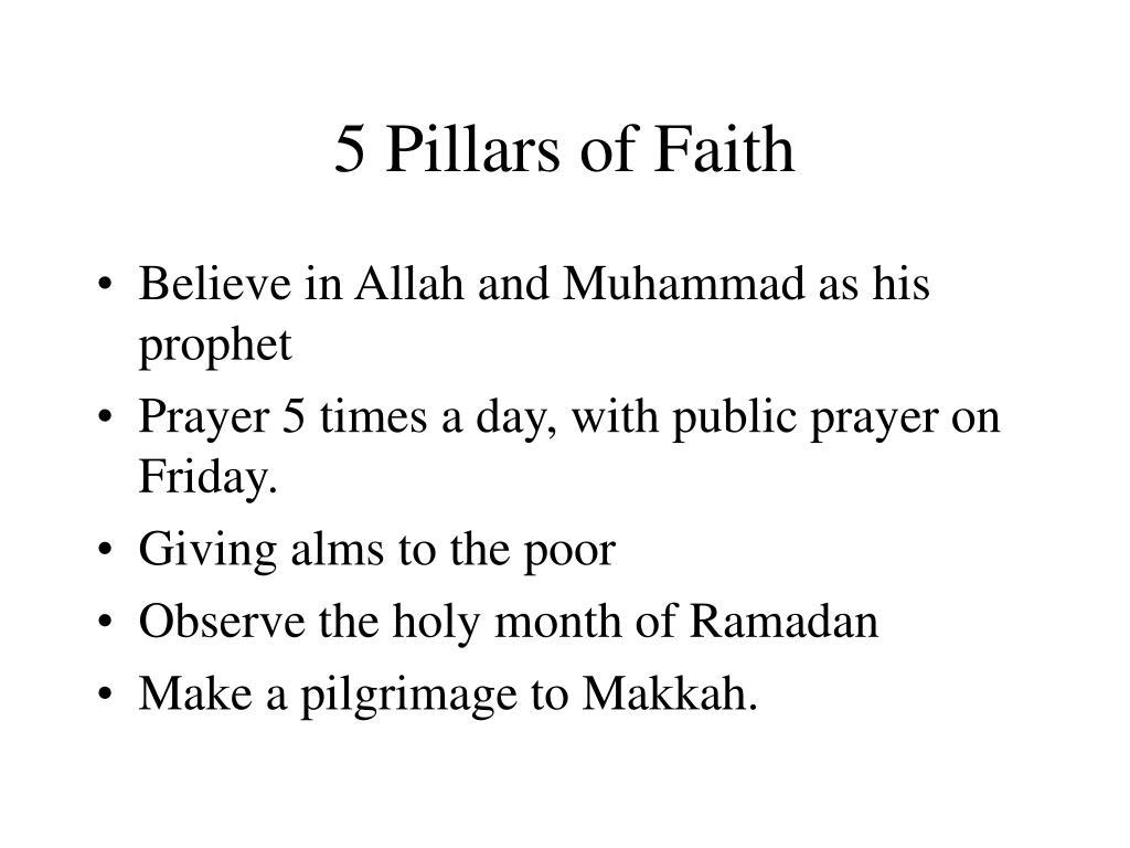 5 Pillars of Faith