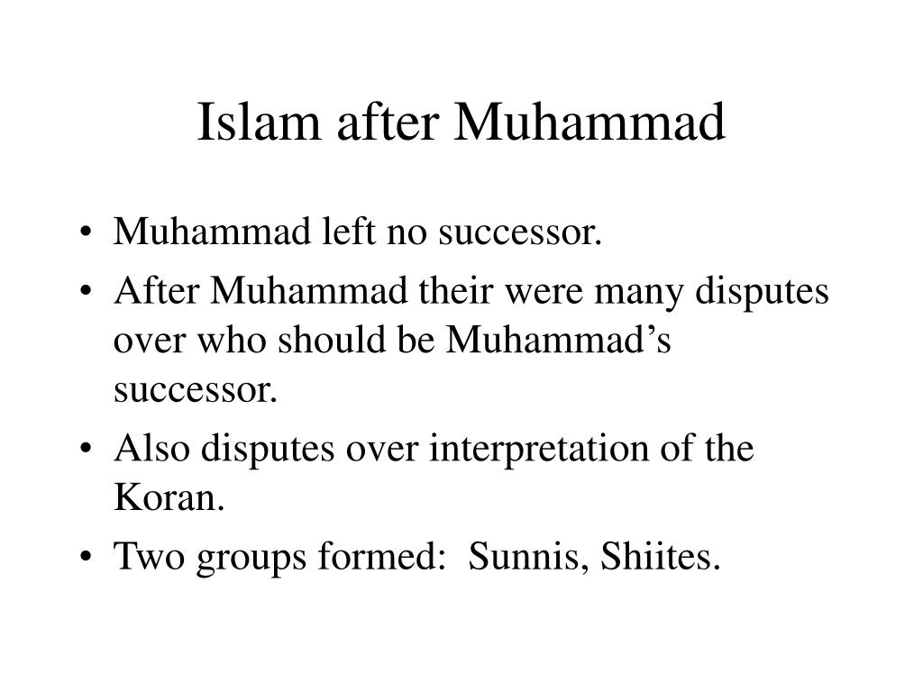 Islam after Muhammad