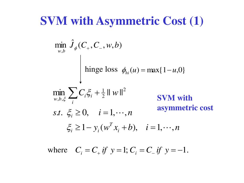 SVM with Asymmetric Cost (1)