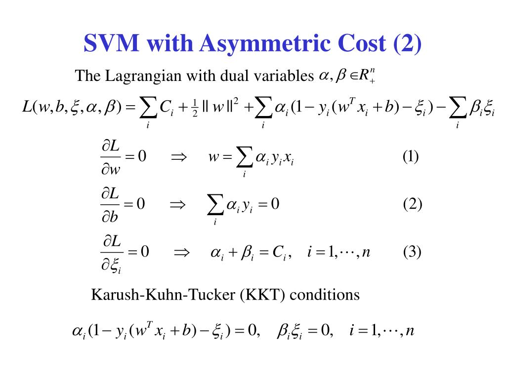SVM with Asymmetric Cost (2)