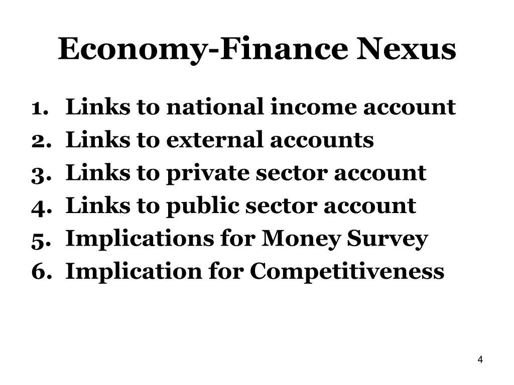 Economy-Finance Nexus
