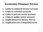 economy finance nexus