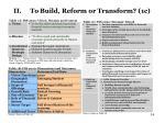 ii to build reform or transform 1c