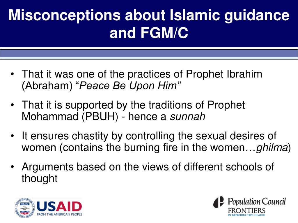 Misconceptions about Islamic guidance and FGM/C