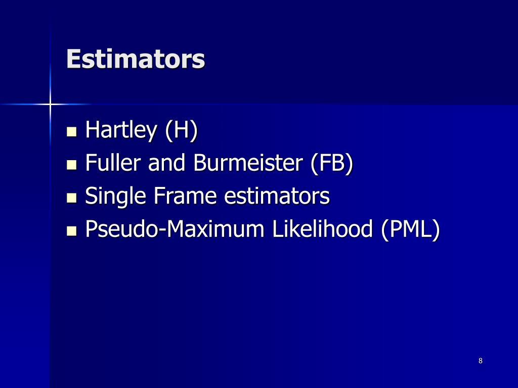 Estimators