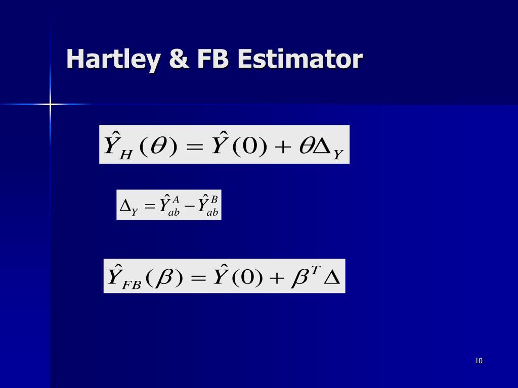 Hartley & FB Estimator
