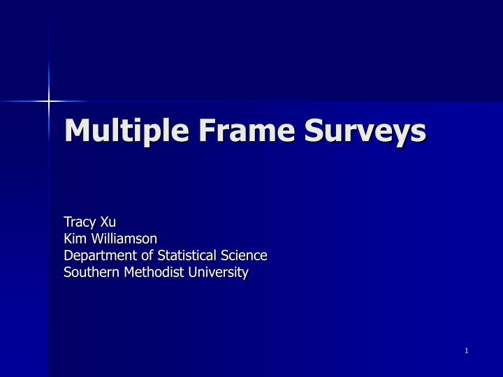 Multiple frame surveys l.jpg