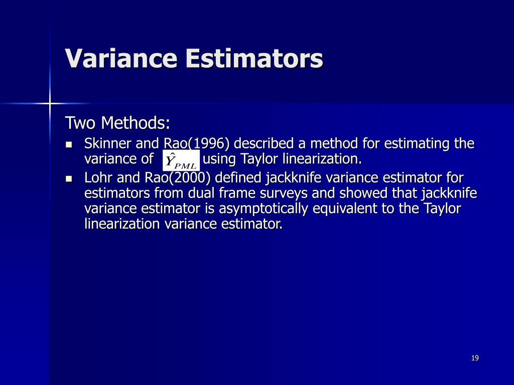 Variance Estimators