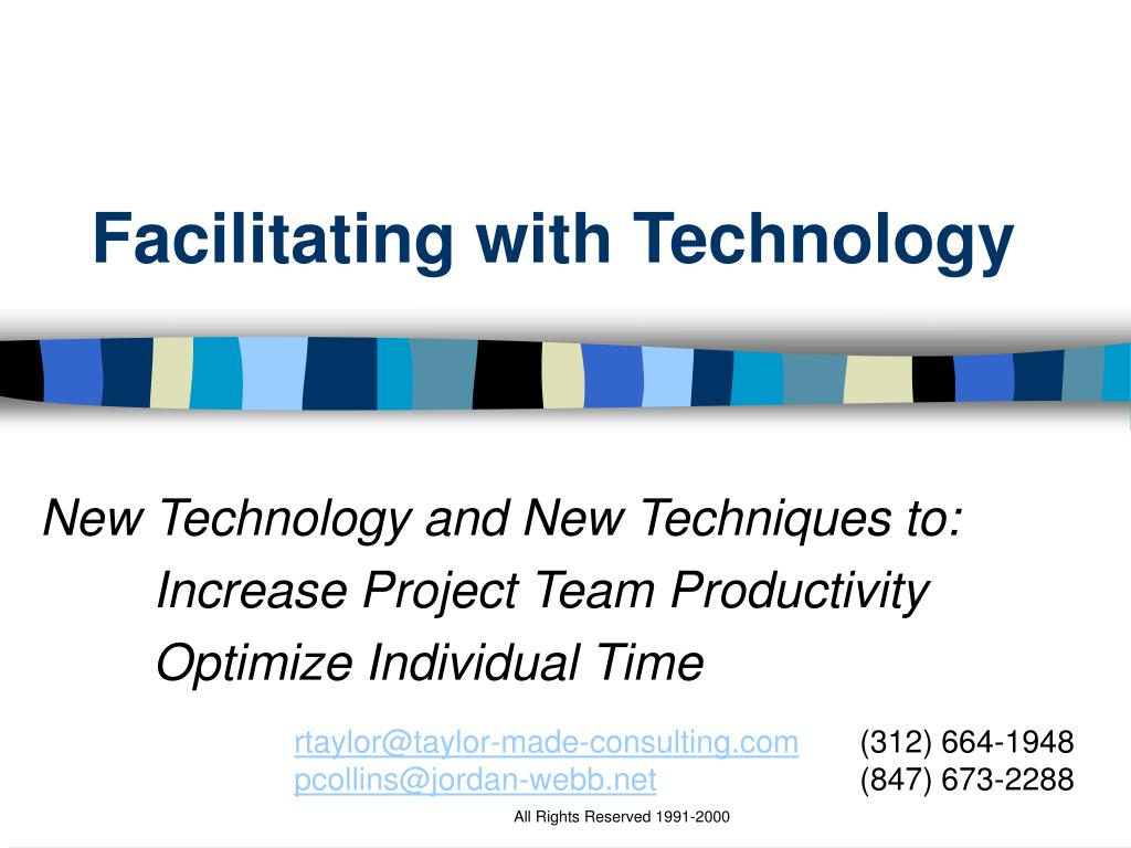 Facilitating with Technology