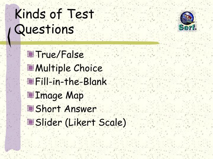 Kinds of Test