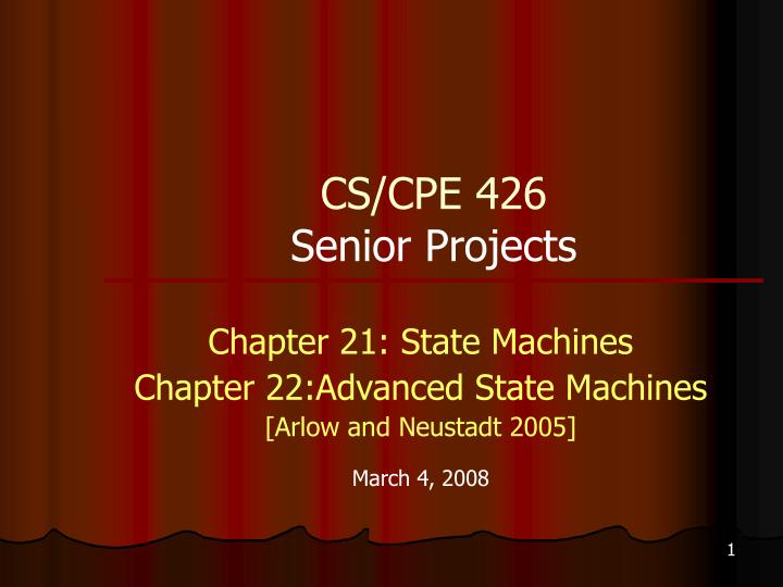 cs cpe 426 senior projects