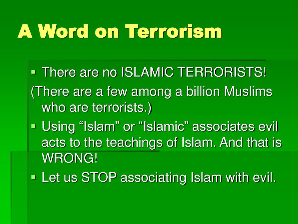 A Word on Terrorism
