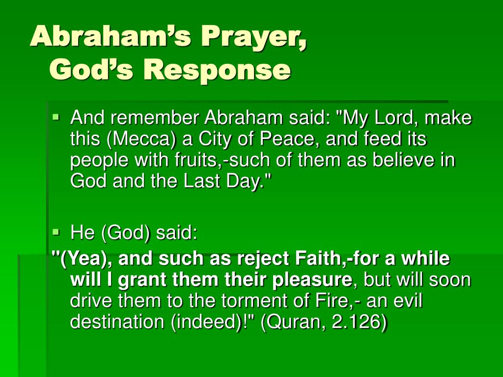 Abraham's Prayer,
