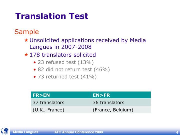 Translation Test