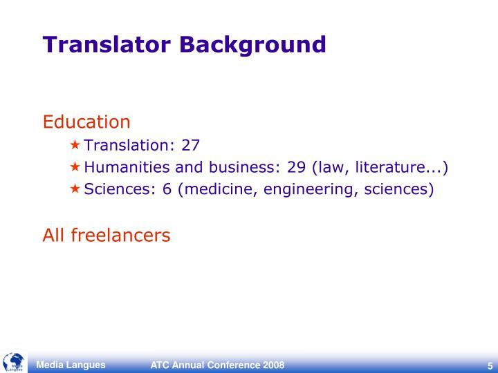 Translator Background