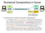 numerical compositions in quran