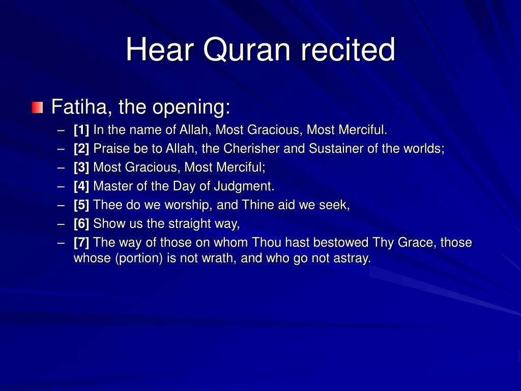 Hear Quran recited