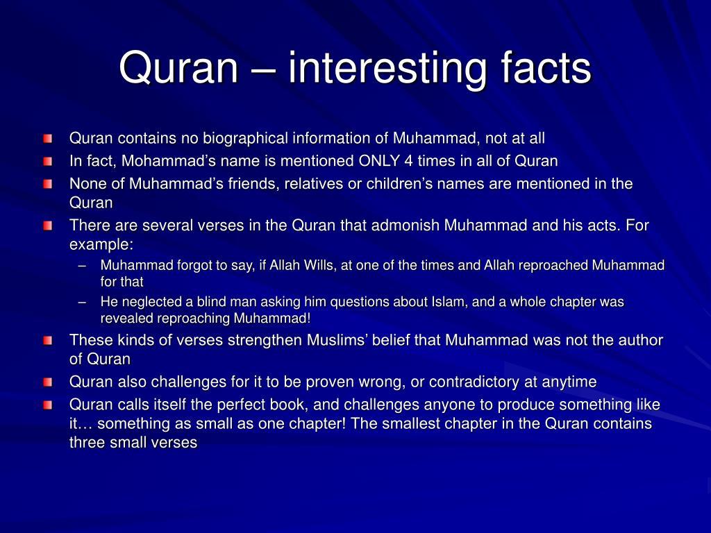 Quran – interesting facts