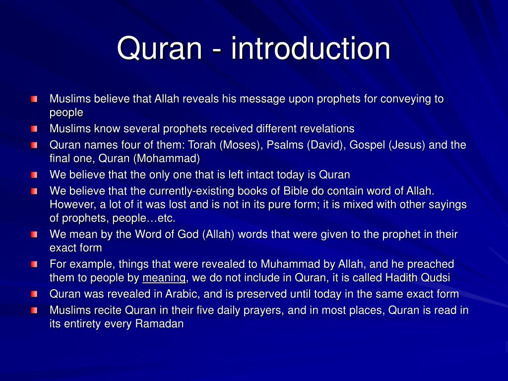 Quran - introduction