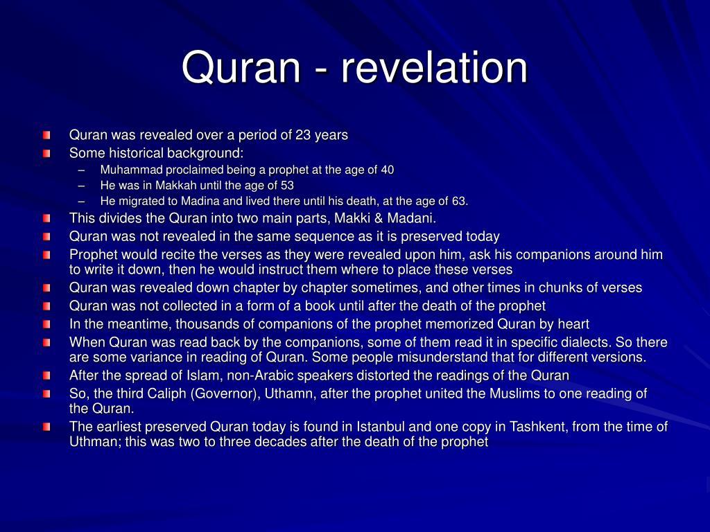 Quran - revelation