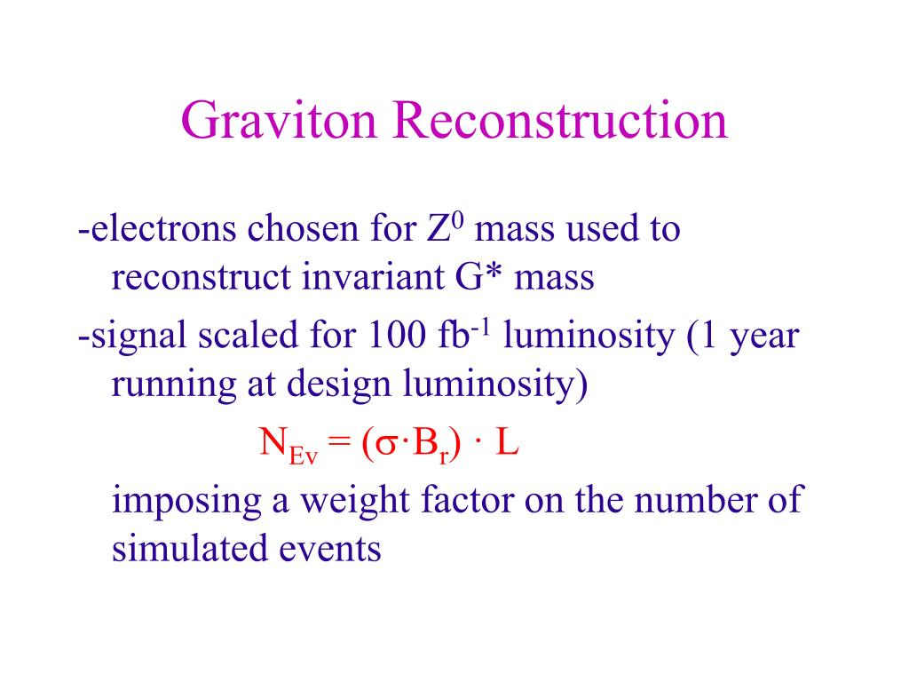 Graviton Reconstruction