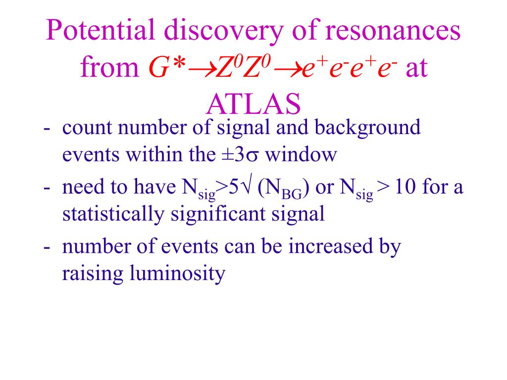 Potential discovery of resonances from