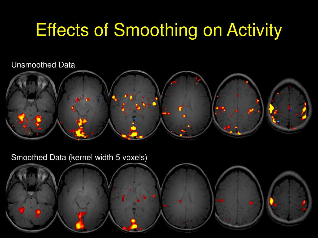 Effects of Smoothing on Activity