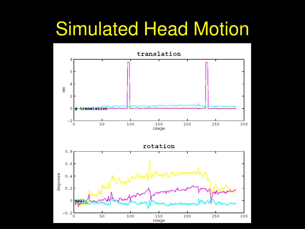 Simulated Head Motion