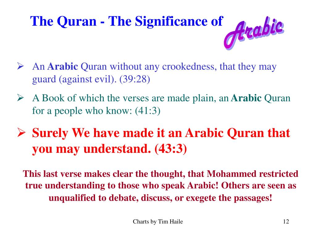 The Quran - The Significance of