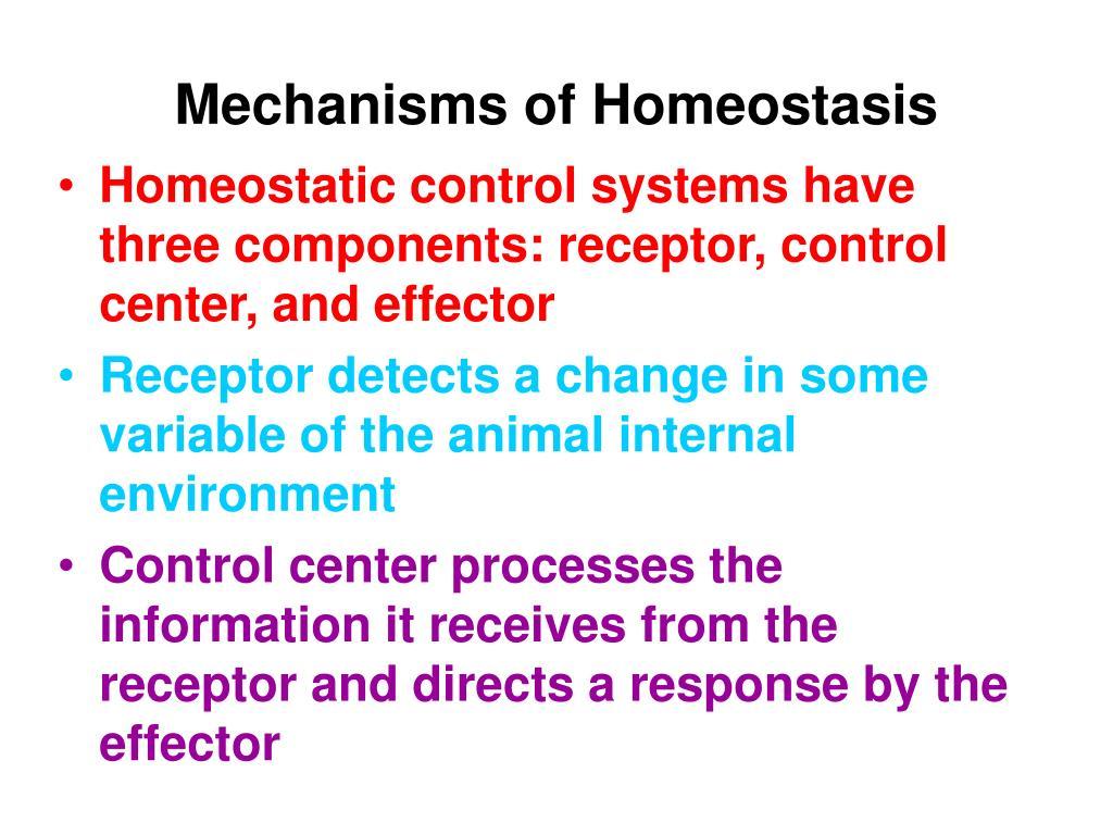 Mechanisms of Homeostasis