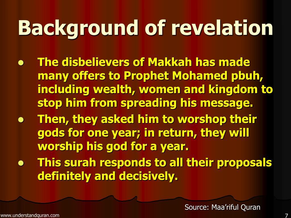 Background of revelation