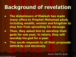 background of revelation