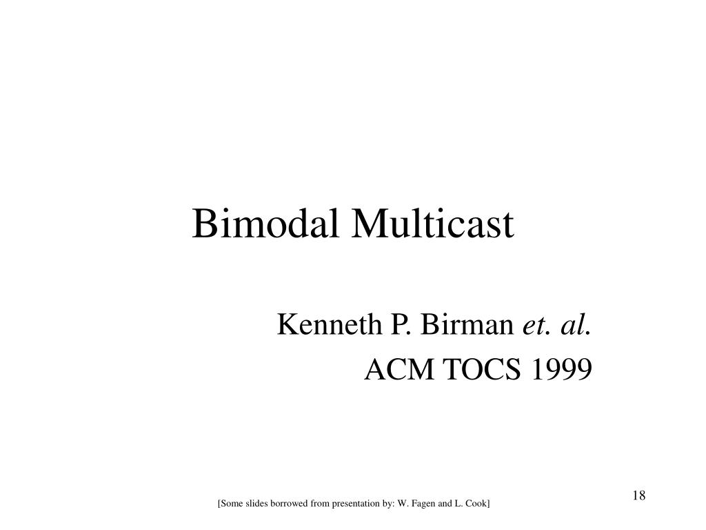 Bimodal Multicast