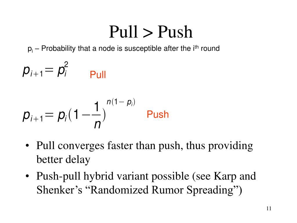 Pull > Push