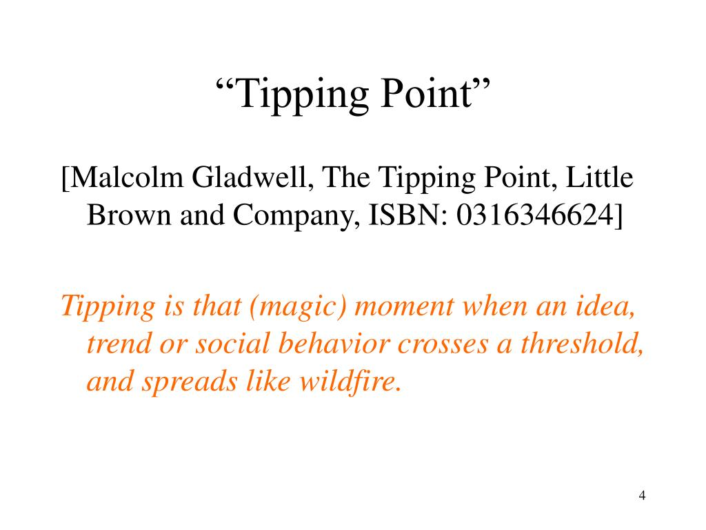 """Tipping Point"""
