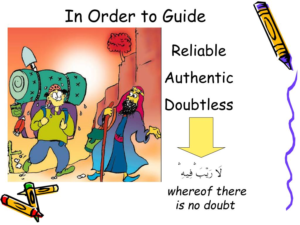 In Order to Guide