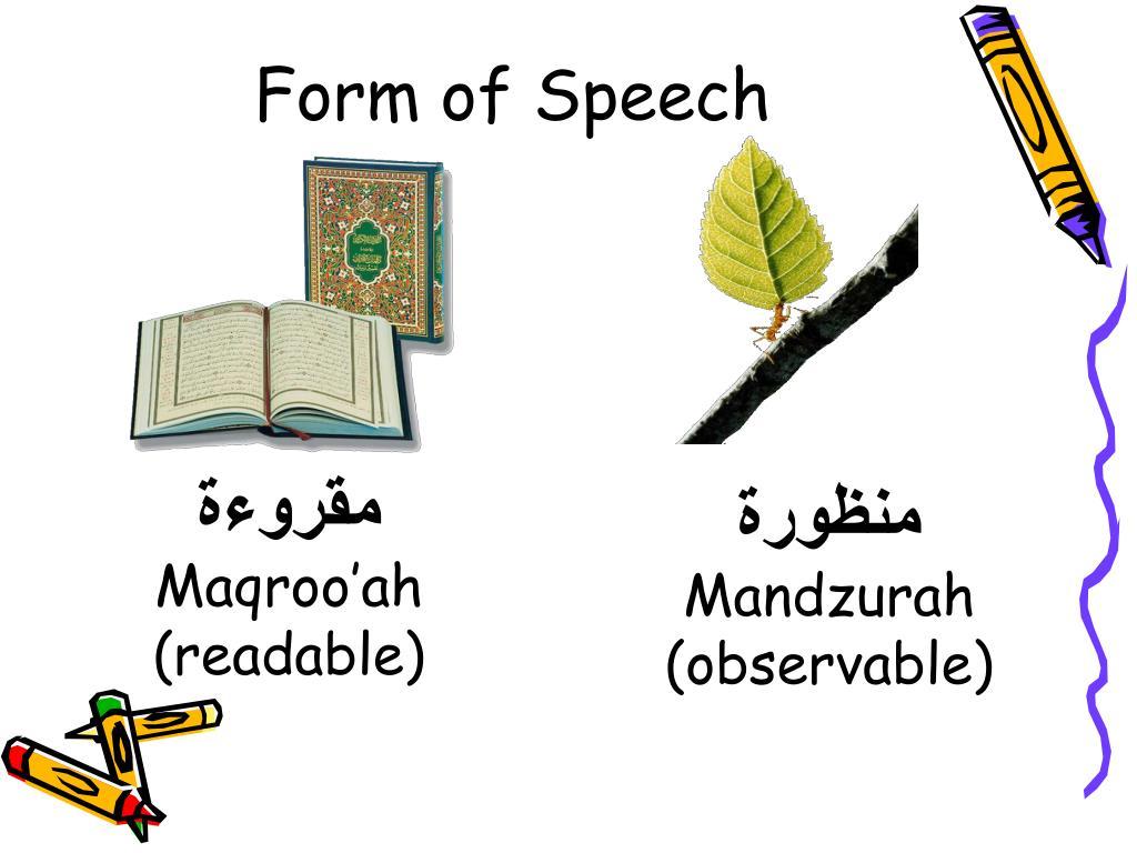 Form of Speech