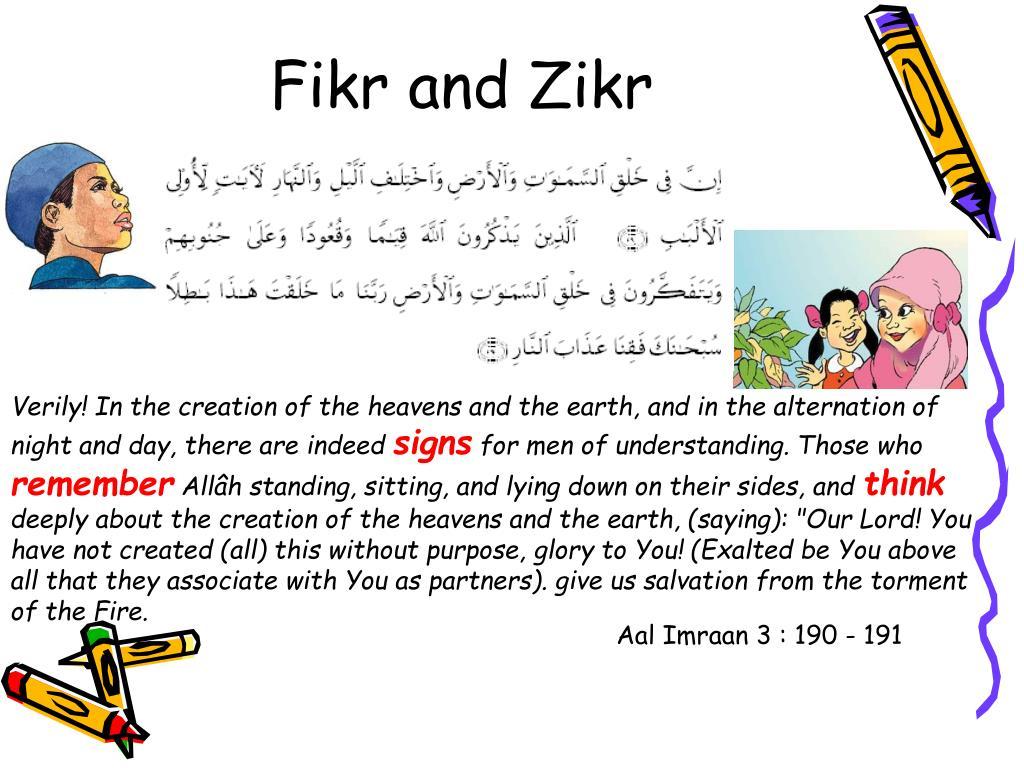 Fikr and Zikr