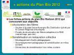 actions du plan bio 2012