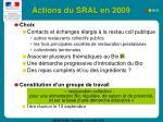 actions du sral en 200931