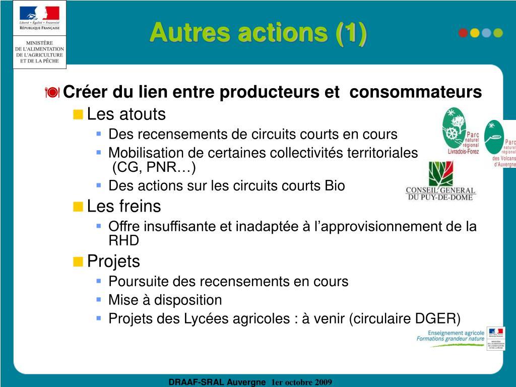 Autres actions (1)