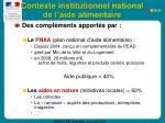 contexte institutionnel national de l aide alimentaire37