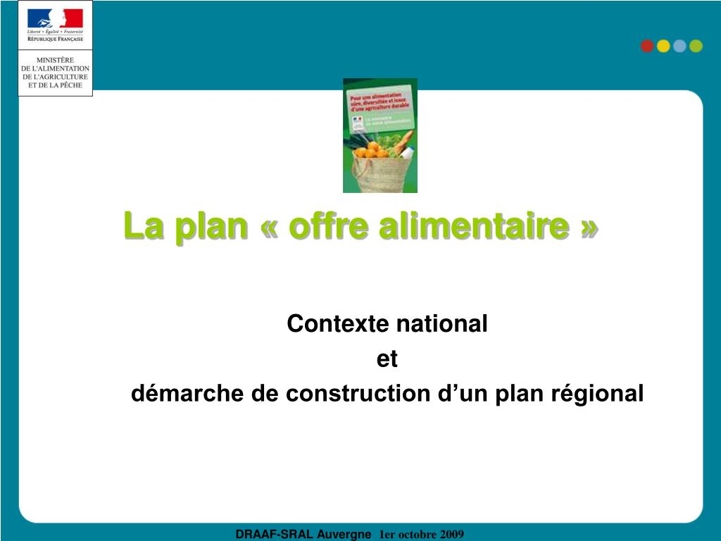 La plan «offre alimentaire»
