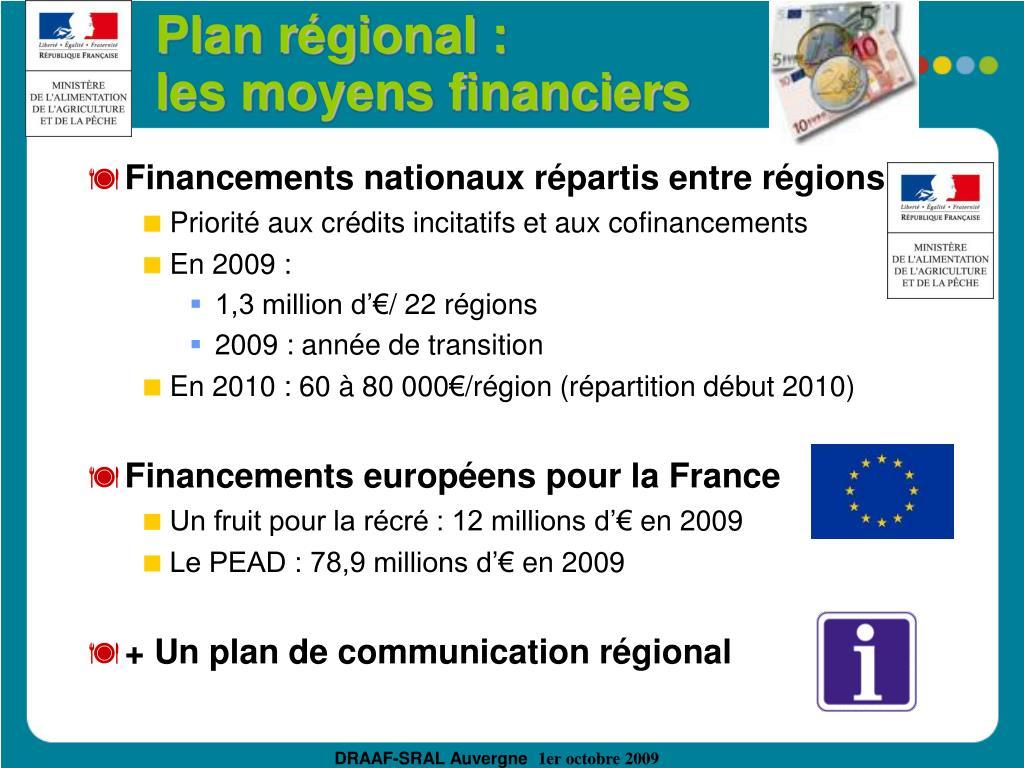Plan régional :