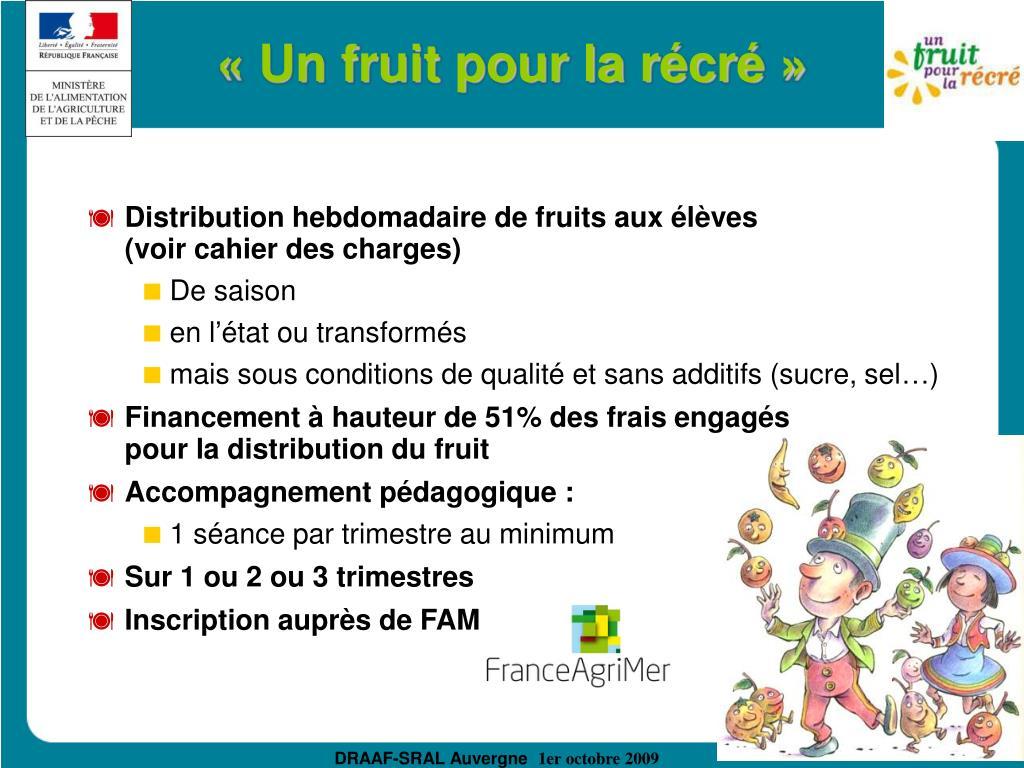 «Un fruit pour la récré»
