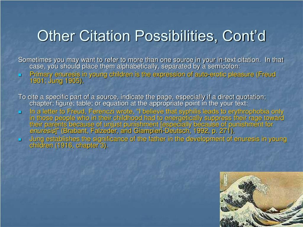 Other Citation Possibilities, Cont'd